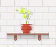 Houseplant Design Flat Concept Stock Images