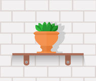 Houseplant Design Flat Concept Stock Photos