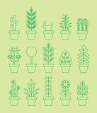 Houseplant icons Royalty Free Stock Image