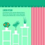 Houseplants w okno kwiatu sklep ilustracja wektor