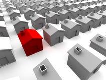 Houses. Illustration of an abstract neighborhood Stock Photo