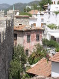 Houses. Old and new houses in Turkey stock photography