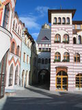 Houses. The Komarno town and its houses - Slovakia Royalty Free Stock Photography