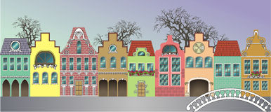 Houses. Fantasie of medieval houses (Day Royalty Free Stock Photography