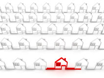 Houses. On white background. 3D Stock Image