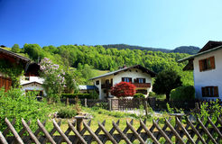 Houses. Country Houses in Ramsau,a small village in Southern Germany stock photo