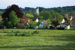 Houses. Small villiage with church at Southern Germany royalty free stock photography