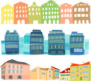 Houses. Set of a buildings and houses Stock Image