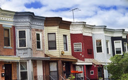 Houses. Row of the houses in Brooklyn, NY Stock Photography