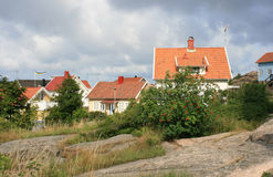 Houses. Family houses in a small town in Sweden royalty free stock photo