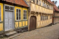 Houses. It's a photo of old Danish houses Stock Photography