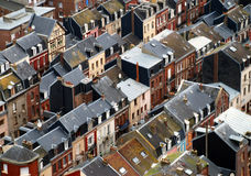 Houses. A rooftop view of houses stock photography