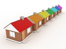 The houses Royalty Free Stock Images