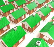 The houses Stock Photo