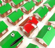 The houses Royalty Free Stock Photo