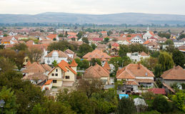 Houses. And villas in Alba Iulia city,Romania Royalty Free Stock Photo