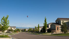 Houses. Suburban subdivision in town of Erie, Colorado Royalty Free Stock Images