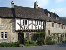 Houses. Traditional & beautiful houses of a cotton village named Castle Combe in United Kingdom Royalty Free Stock Image