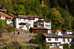 Houses. Typical old Bulgarian houses built on a slope Royalty Free Stock Photography