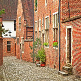 Houses. In the old town of Leuven, Belgium Royalty Free Stock Photo