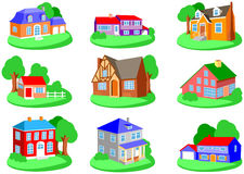 Houses. Set of houses in different styles Stock Image