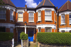 Houses. Edwardian terraced house in london Royalty Free Stock Photos