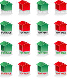 Houses 3d sale rent Stock Image