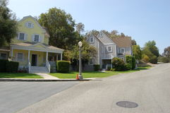 Houses. Luxury houses in suburb, USA Stock Photos