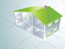 Houses. House blueprint easy to resize or change color Royalty Free Stock Photography