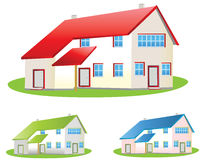 Houses. House easy to resize or change color Stock Images