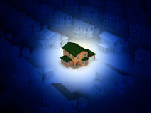 Houses. The conceptual image of the house Royalty Free Stock Photos