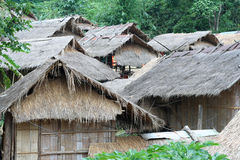 Houses. Hill tribe houses in Thailand Stock Photo
