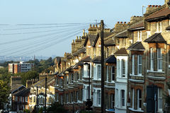 Houses. Victorian houses in south london.UK Royalty Free Stock Photo