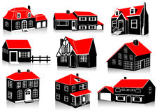 Houses. Various houses in different styles Royalty Free Stock Photo