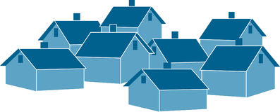 Houses. This is an illustration of a group of houses Vector Illustration