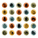 Houses abstract icons, can be used in advertising and as brandin Stock Image
