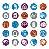 Houses abstract icons, can be used in advertising and as brandin Stock Photography