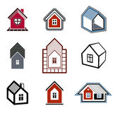Houses abstract icons, can be used in advertising and as brandin Royalty Free Stock Photography