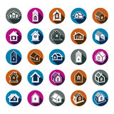 Houses abstract icons, can be used in advertising Royalty Free Stock Photo
