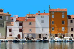Houses in Adriatic town Cres Stock Images