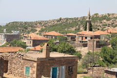 Houses, Aegean villages. Images from Turkey, summer, Aegean area Royalty Free Stock Photo