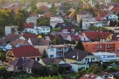 Houses - aerial view, Slovakia Stock Image