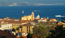 The houses of Ajaccio city, Corsica island, France. Royalty Free Stock Photos