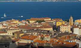 The houses of Ajaccio city, Corsica island, France. Royalty Free Stock Image