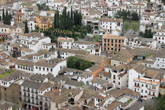 Houses in Albaicin, Granada, Spain Stock Image
