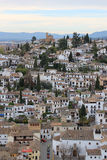 Houses in Albaicin, Granada, Spain Stock Photography