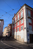 Houses in the Alfama District of Lisbon Stock Photo
