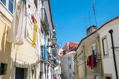 Houses in the Alfama district Stock Photography