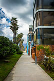 Houses along the boardwalk in Venice Beach, Los Angeles  Royalty Free Stock Photo