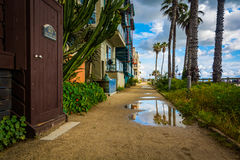 Houses along the boardwalk in Venice Beach  Royalty Free Stock Image